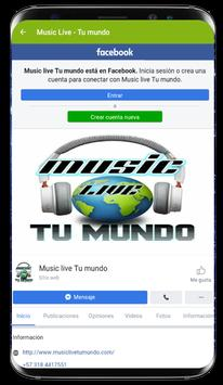 Music Live - Tu mundo screenshot 2