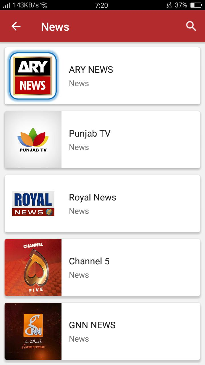 LIVE NET TV - Live TV Channel Pakistani TV Channel for Android - APK