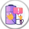 Battery Charging Animation Zeichen