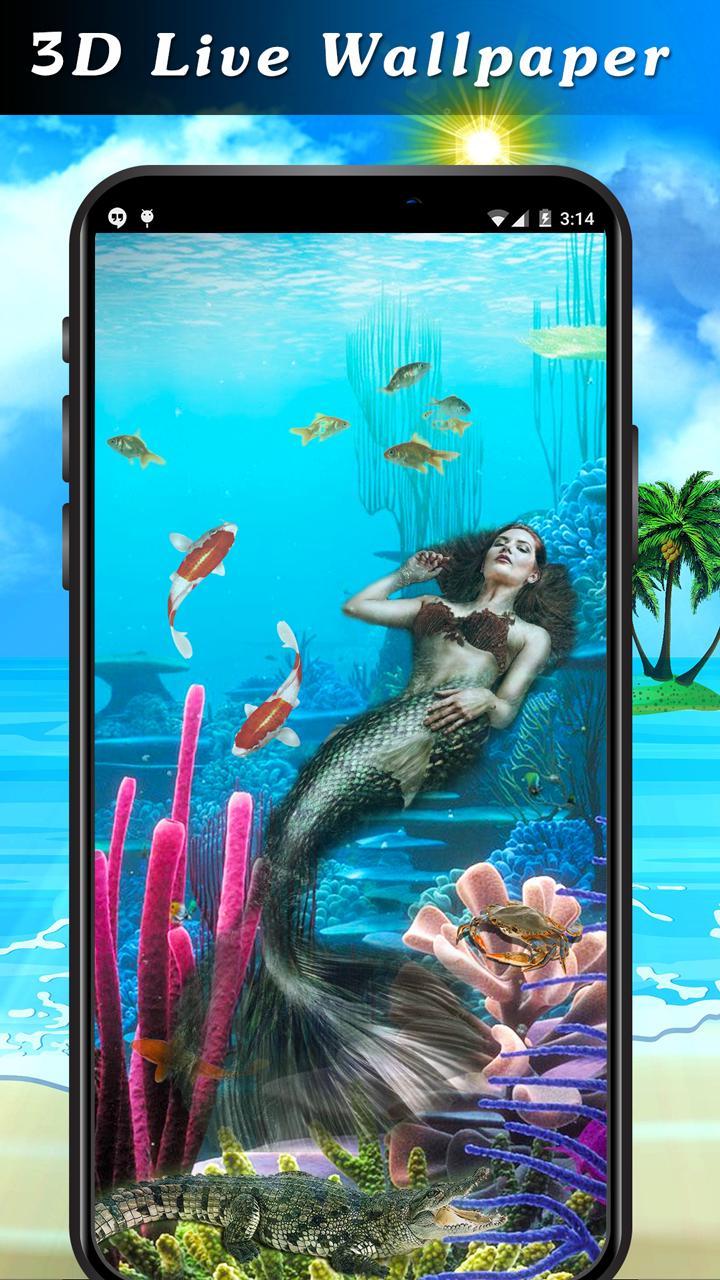 Mermaid Live Wallpaper 2019 Akuarium 3d Ikan Koi For