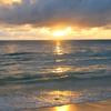 ikon pantai matahari terbenam wallpaper animasi