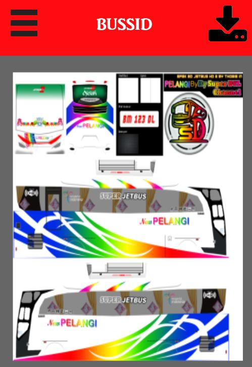 Livery Bussid Putra Pelangi Hd For Android Apk Download