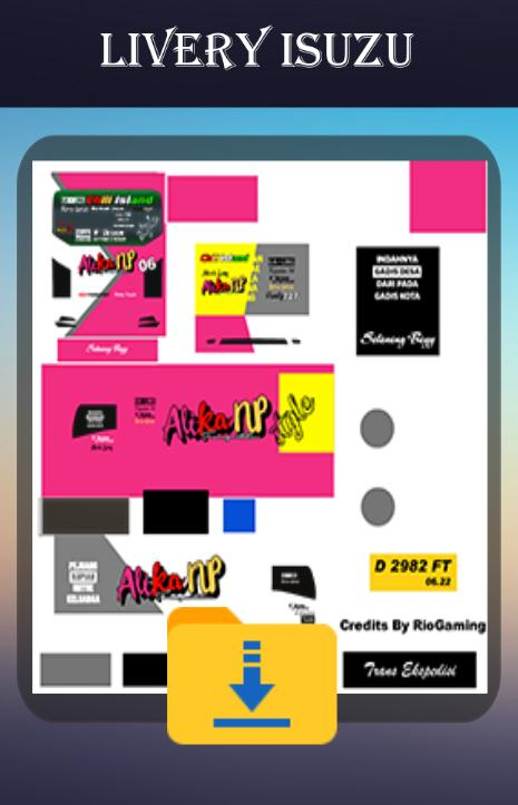Download aplikasi Livery Bussid Truck Isuzu gratis untuk android