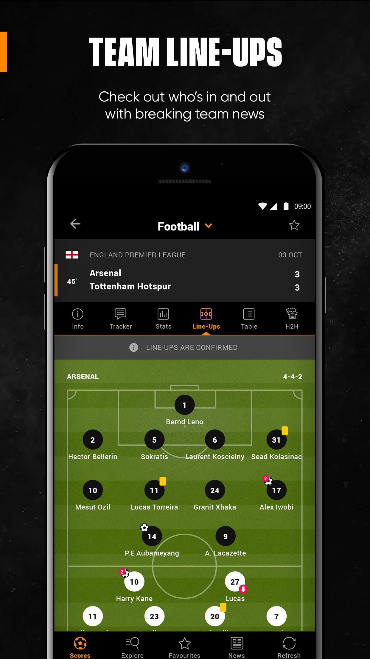 LiveScore for Android - APK Download