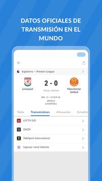 Live Futebol TV: Marcadores, Estadísticas. Guia TV captura de pantalla 2