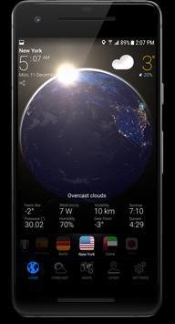 3D EARTH PRO - local weather forecast & rain radar تصوير الشاشة 1