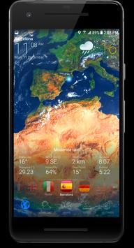 3D EARTH PRO - local weather forecast & rain radar تصوير الشاشة 2