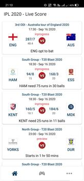 IPL 2020 - IPL WATCH LIVE & Cricket Live Score poster