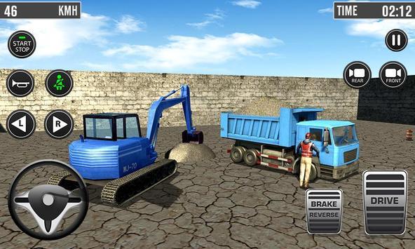 Building Construction 3D- Excavator Simulator 2019 poster