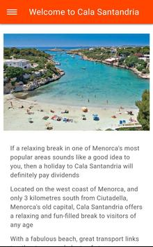 Free Cala Santandria Travel Guide with Maps poster