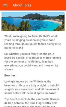 Free Ibiza Town Travel Guide with Maps screenshot 1