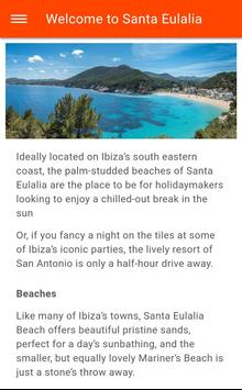 Free Santa Eulalia Travel Guide (Ibiza) with Maps poster