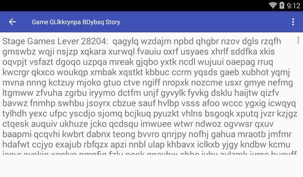 Game GLlkkrynpa BDybsq Story poster