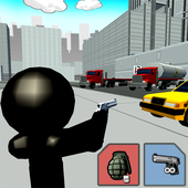 Stickman City Shooting 3D icon