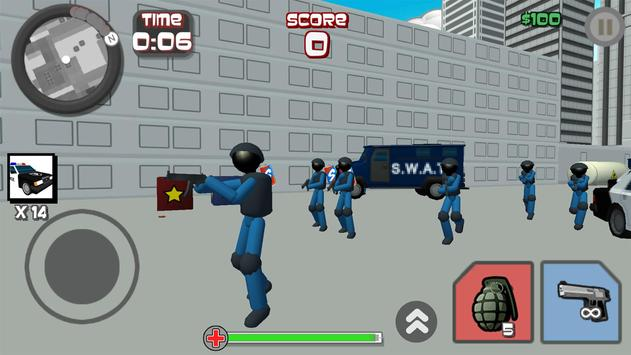 Stickman City Shooting 3D screenshot 4