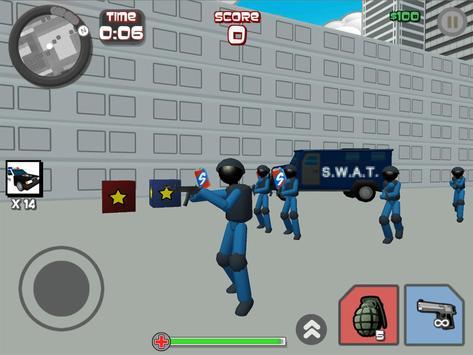 Stickman City Shooting 3D screenshot 9