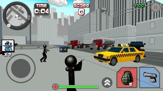 Stickman City Shooting 3D screenshot 10