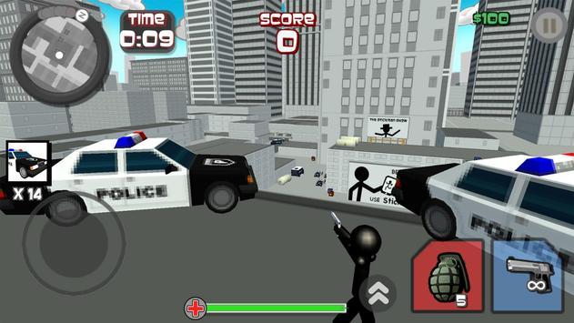 Stickman City Shooting 3D screenshot 3