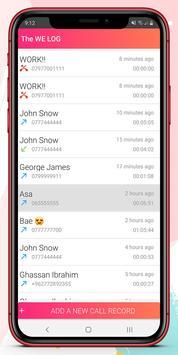 تعديل سجل المكالمات والحفظ الإحتياطي تصوير الشاشة 1