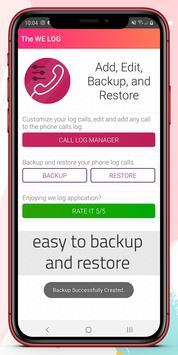 تعديل سجل المكالمات والحفظ الإحتياطي تصوير الشاشة 4