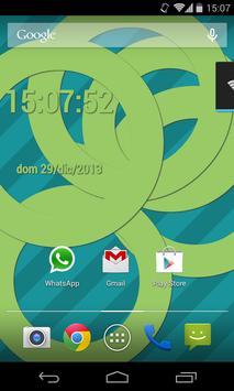 SuperFlat Clock LiveWallPaper screenshot 4
