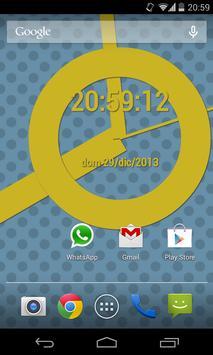 SuperFlat Clock LiveWallPaper screenshot 1