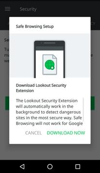 Lookout Security Extension screenshot 1