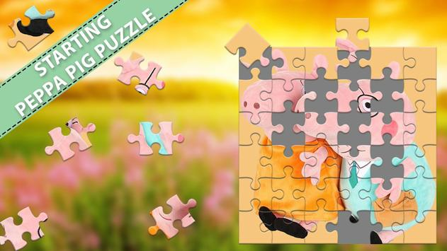 Pink Piggy Jigsaw Puzzle Games 2019 poster