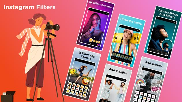 camera for instagram filters & effects: IG filters पोस्टर