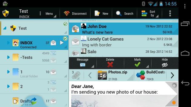 ProfiMail Go screenshot 1