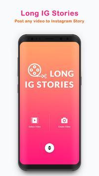 Long Stories - upload full story on instagram plakat