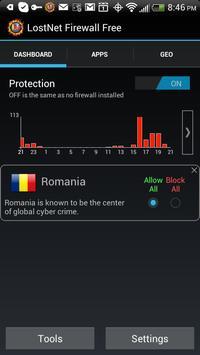 LostNet NoRoot Firewall poster