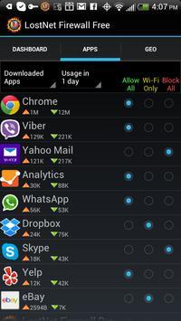 LostNet NoRoot Firewall screenshot 1