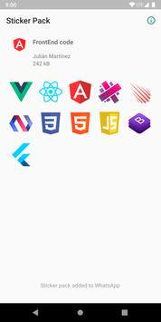FrontEnd Code Stickers screenshot 1