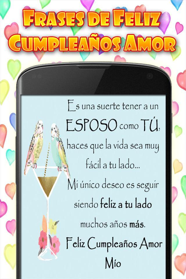 Frases Feliz Cumpleaños Amor Mio Pour Android Téléchargez