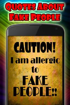 Quotes about fake people Affiche