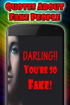 Quotes about fake people capture d'écran 1