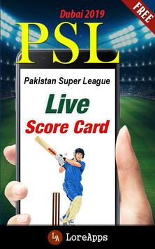PSL: Pakistan Super League 2019 poster