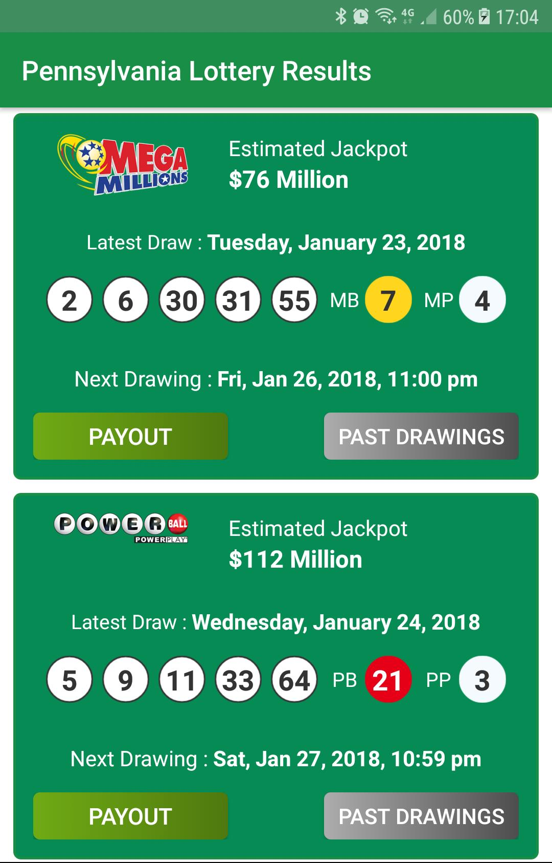 Pennsylvania Lottery Results cho Android - Tải về APK