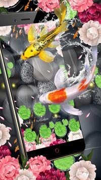 Lotus Koi Fish Theme poster