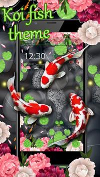 Lotus Koi Fish Theme screenshot 1