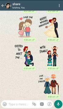 WAStickerApps - Love Stickers Pack स्क्रीनशॉट 11