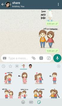 WAStickerApps - Love Stickers Pack स्क्रीनशॉट 18