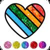 Glitter Heart Love Coloring Book for Girls simgesi
