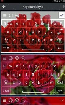 Lovely Red Rose Keyboard poster