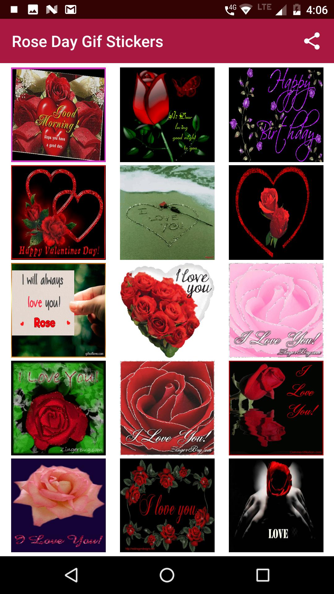 Floral Rose gif Stickers for Android - APK Download