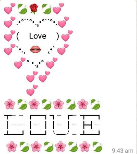 Ascii love heart