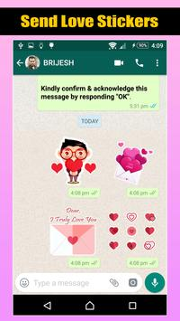 Love Romantic Stickers For WhatsApp screenshot 1