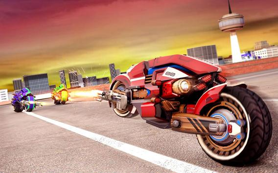 Flying Bike Robot Transforming War screenshot 7