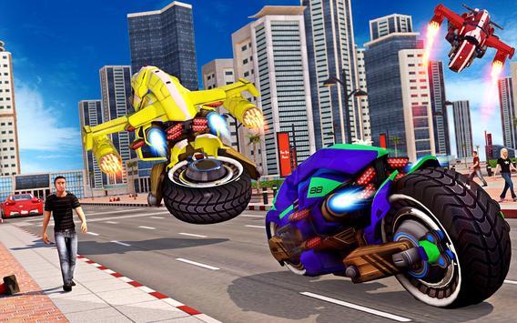 Flying Bike Robot Transforming War screenshot 10